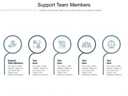 Support Team Members Ppt Powerpoint Presentation File Clipart Images Cpb