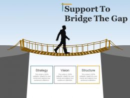 Support To Bridge The Gap Presentation Pictures