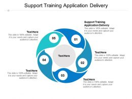Support Training Application Delivery Ppt Powerpoint Presentation Model Format Cpb