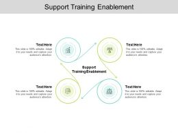 Support Training Enablement Ppt Powerpoint Presentation Ideas Rules Cpb