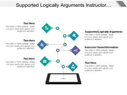 Supported Logically Arguments Instructor Same Information Opportunity Problems