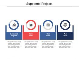 Supported Projects Ppt Powerpoint Presentation Icon Design Ideas Cpb