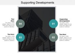 Supporting Developments Ppt Powerpoint Presentation Gallery Master Slide Cpb