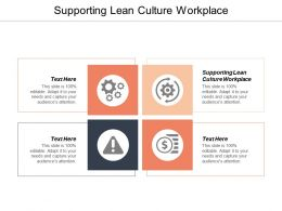 Supporting Lean Culture Workplace Ppt Powerpoint Presentation Outline Designs Download Cpb