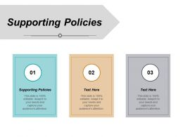 Supporting Policies Ppt Powerpoint Presentation Styles Outfit Cpb