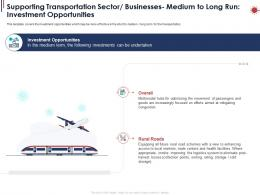 Supporting Transportation Sector Businesses Medium To Long Run Investment Opportunities Ppt Powerpoint