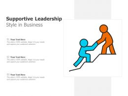 Supportive Leadership Style In Business