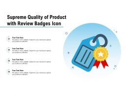 Supreme Quality Of Product With Review Badges Icon