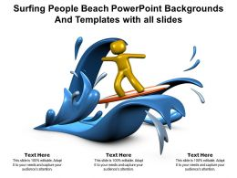 Surfing People Beach Powerpoint Backgrounds And Templates With All Slides