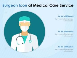 Surgeon Icon At Medical Care Service