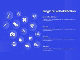 Surgical Rehabilitation Ppt Powerpoint Presentation Professional Format