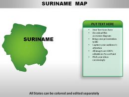 Suriname Country Powerpoint Maps