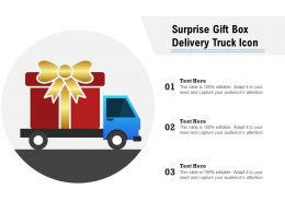 Surprise Gift Box Delivery Truck Icon