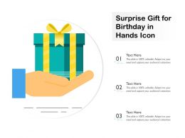 Surprise Gift For Birthday In Hands Icon