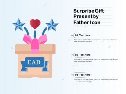 Surprise Gift Present By Father Icon