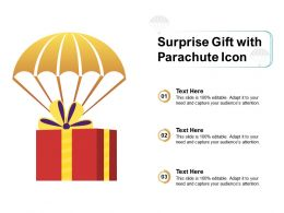 Surprise Gift With Parachute Icon