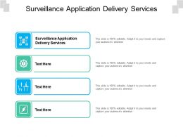 Surveillance Application Delivery Services Ppt Powerpoint Show Cpb