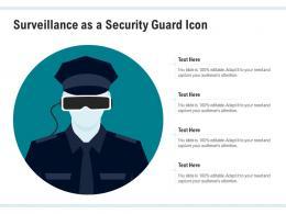 Surveillance As A Security Guard Icon