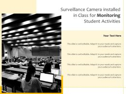 Surveillance Camera Installed In Class For Monitoring Student Activities