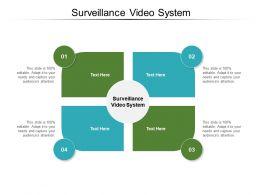 Surveillance Video System Ppt Powerpoint Presentation Infographics Slide Portrait Cpb