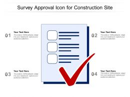 Survey Approval Icon For Construction Site