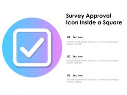 Survey Approval Icon Inside A Square