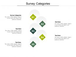 Survey Categories Ppt Powerpoint Presentation Infographic Template Layouts Cpb
