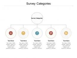 Survey Categories Ppt Powerpoint Presentation Model Portrait Cpb