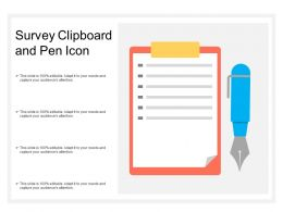 Survey Clipboard And Pen Icon