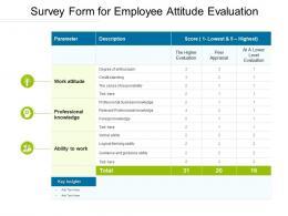 Survey Form For Employee Attitude Evaluation