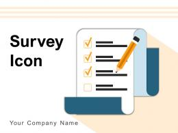 Survey Icon Business Survey Chart Icon Window Satisfaction Rating System Magnifying Glass