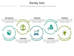 Survey Icon Ppt Powerpoint Presentation Outline Summary Cpb