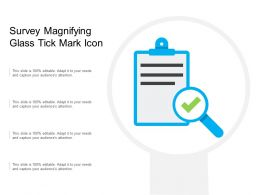 Survey Magnifying Glass Tick Mark Icon