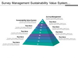 Survey Management Sustainability Value System Business Platform Services Catalogue