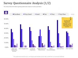 Survey Questionnaire Analysis 1 2 Information Empowered Customer Engagement Ppt Powerpoint Outfit