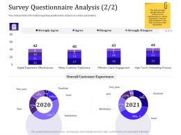 Survey Questionnaire Analysis 2 2 Experience Ppt Powerpoint Presentation Layout