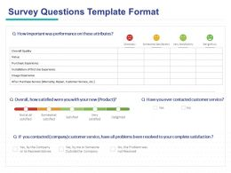 Survey Questions Template Format Ppt Powerpoint Presentation Samples