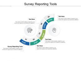 Survey Reporting Tools Ppt Powerpoint Presentation Model Design Ideas Cpb