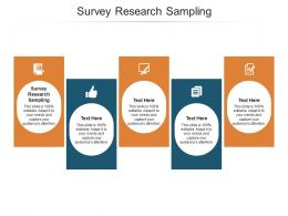 Survey Research Sampling Ppt Powerpoint Presentation Infographics Pictures Cpb