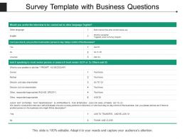 Survey Template With Business Questions