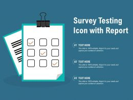 Survey Testing Icon With Report
