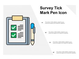 Survey Tick Mark Pen Icon
