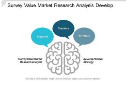 Survey Value Market Research Analysis Develop Product Strategy Cpb