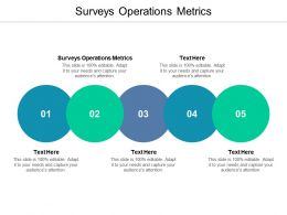 Surveys Operations Metrics Ppt Powerpoint Presentation Infographics Design Ideas Cpb