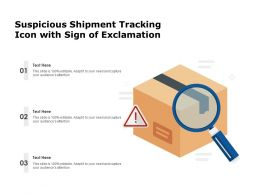 Suspicious Shipment Tracking Icon With Sign Of Exclamation