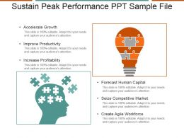 Sustain Peak Performance Ppt Sample File