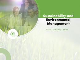 Sustainability And Environmental Management Powerpoint Presentation Slides