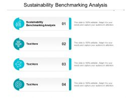Sustainability Benchmarking Analysis Ppt Powerpoint Presentation Infographics Design Ideas Cpb