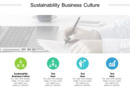 Sustainability Business Culture Ppt Powerpoint Presentation Inspiration Display Cpb
