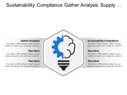 Sustainability Compliance Gather Analysis Supply Chain Strategy Goals
